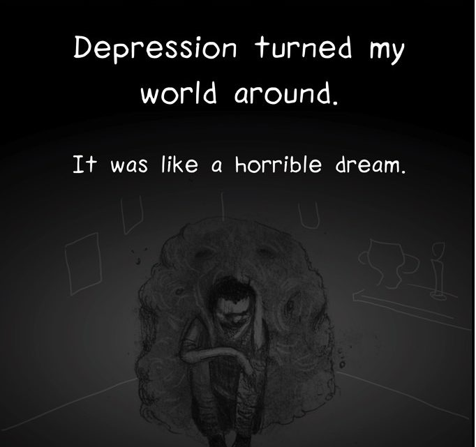 depression cartoon
